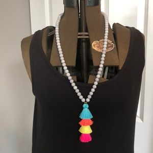 BaubleBar Beaded Necklace with Tassel